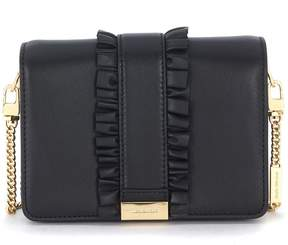 Michael Kors Jade Black Drawstring Leather Shoulder Bag - NERO - STYLE
