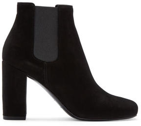 Saint Laurent Black Suede Babies Boots