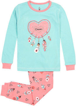 Petit Lem Girl's Dream Catcher Two-Piece Pajama Set, Blue, Size 2-6x