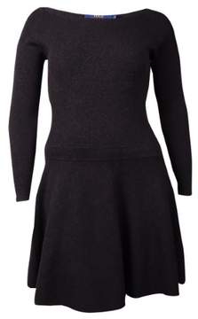 Polo Ralph Lauren Women's Ribbed Fit Flare Sweater Dress