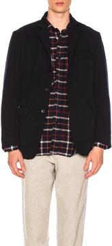 Engineered Garments Wool Elastic Andover Jacket in Blue.