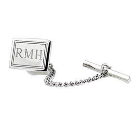 Asstd National Brand Engravable Sterling Silver Tie Tack