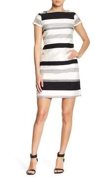 Donna Ricco Cap Sleeve Taffeta Dress