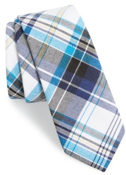1901 Men's 'Highmore' Plaid Cotton Tie