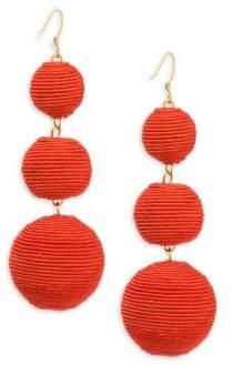 Kenneth Jay Lane Carnival Triple Drop Earrings/Red