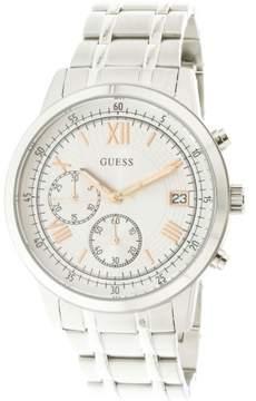 GUESS Men's U1001G1 Silver Stainless-Steel Japanese Quartz Fashion Watch