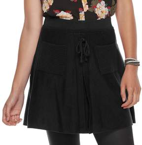 Candies Candie's Juniors' A-Line Lace-Up Skirt