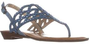 Zigi Mariane Flat Thong Sandals, Blue Grey.
