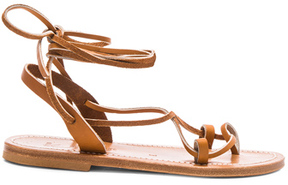 K. Jacques Leather Lucile Sandals in Brown.
