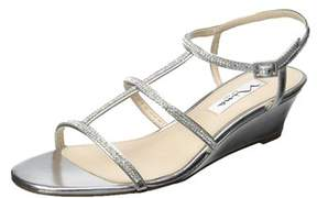 Nina Womens Floria Open Toe Ankle Strap Wedge Pumps.