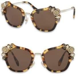 Miu Miu 51MM Crystal-Embellished Square Sunglasses