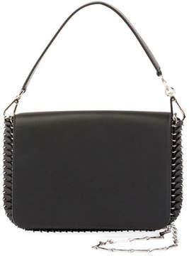Paco Rabanne Iconic Shoulder Bag w/Handle in Sleek Calf, Black