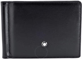 Montblanc Meisterstuck 6 CC Men's Leather Wallet With Money Clip