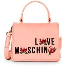 Love Moschino Floral Faux Leather Crossbody Bag