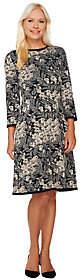 Isaac Mizrahi Live! Floral Lurex JacquardSweater Dress