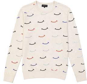 Commune De Paris Joie Smile Print Sweatshirt