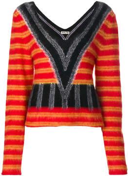 Aalto v-neck patterned jumper