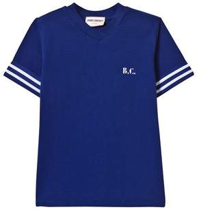 Bobo Choses Mazarine Blue Team Team B.C. V-Neck T-Shirt