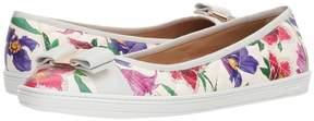 Salvatore Ferragamo Nappa Leather/Tweed Sneaker Women's Flat Shoes