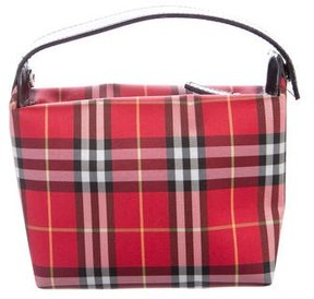 Burberry Check Mini Handle Bag - RED - STYLE