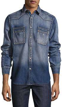 Gilded Age Men's Stripe Chambray Sport Shirt