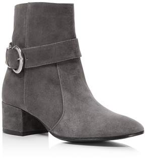 Charles David Maddie Suede Block Heel Booties