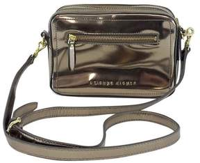 Etienne Aigner Metallic Silver Double Zip Crossbody Bag
