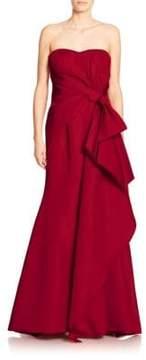 Carolina Herrera Silk Sweetheart Gown