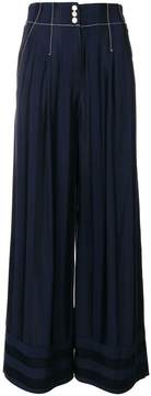 Temperley London striped palazzo pants