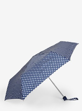 Dorothy Perkins Navy Spotted Umbrella