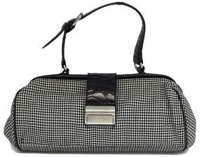 Cynthia Rowley Houndstooth & Leather Small Handbag
