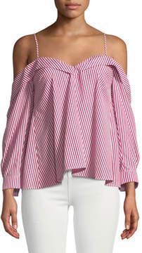 Bardot Paloma Striped Off-the-Shoulder Blouse