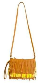 Sam Edelman Claudia Convertible Leather Fringe Crossbody Bag