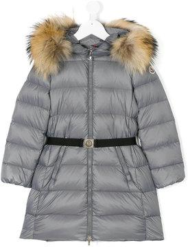 Moncler racoon fur hooded coat