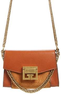 Givenchy Givency Nano GV3 Leather & Suede Crossbody Bag