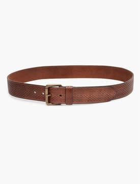 Lucky Brand Tooled Texture Belt