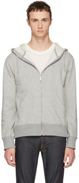Nudie Jeans Grey Loke Light Zip Hoodie