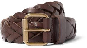 J.Crew 3cm Brown Woven Leather Belt