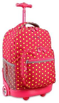 J World JWorld Sunrise Rolling Backpack - Pink Buttons