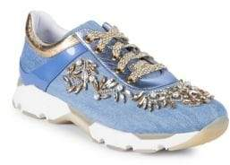 Rene Caovilla Faux Pearl-Embellished Sneakers
