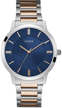 GUESS Men's Two-Tone Stainless Steel Bracelet Watch 44mm