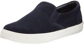 a. testoni a.testoni Suede Platform Sneaker, Blue