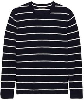Banana Republic Cotton Stripe Crew-Neck Sweater