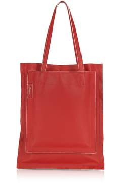 3.1 Phillip Lim Slim Accordion Scarlet Leather Tote Bag