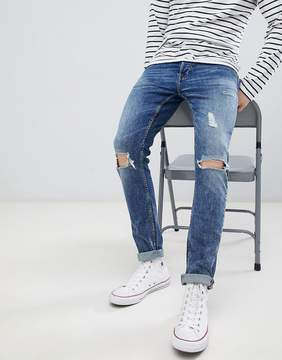 ONLY & SONS Skinny Jeans With Repair Knee Details