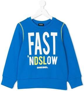 Diesel slogan print sweatshirt