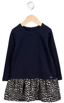 Lili Gaufrette Girls' Leopard-Patterned Matelassé Dress w/ Tags