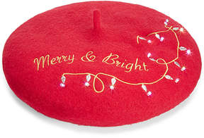 Collection XIIX Merry & Bright Light-Up Beret