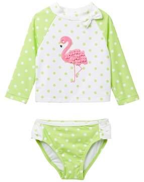 Little Me Flamingo Long Sleeve 2-Piece Rashguard Set (Baby Girls)