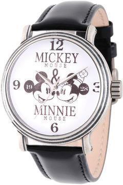 Disney Mickey Mouse Mens Black Strap Watch-Wds000336